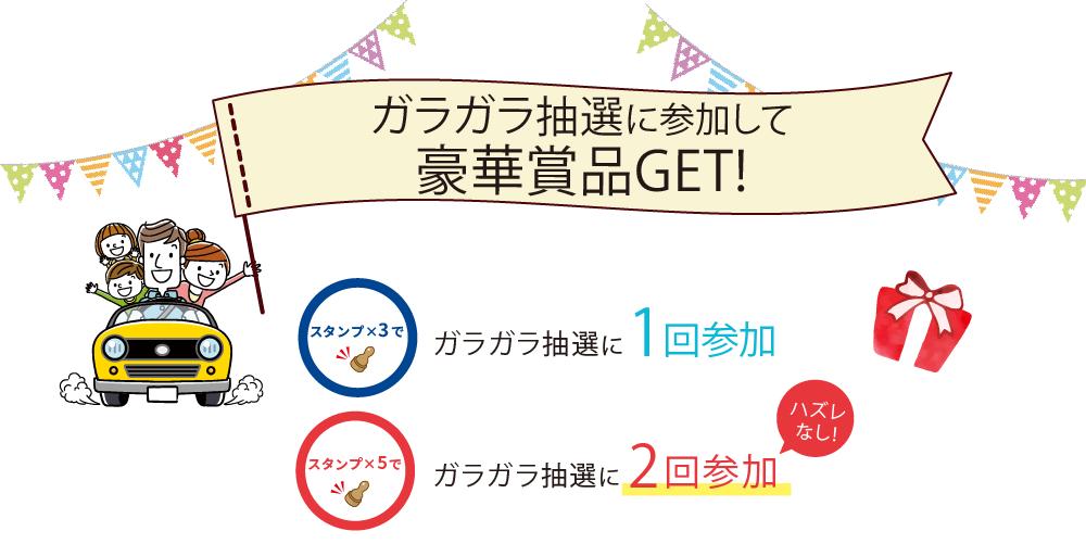 ガラガラ抽選に参加して豪華商品GET!